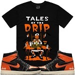 TALES DRIP - Black w/ Orange